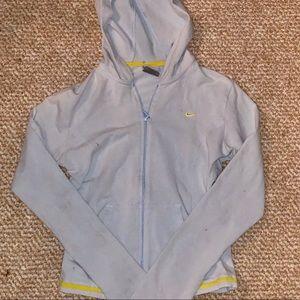 Nike light blue hoodie